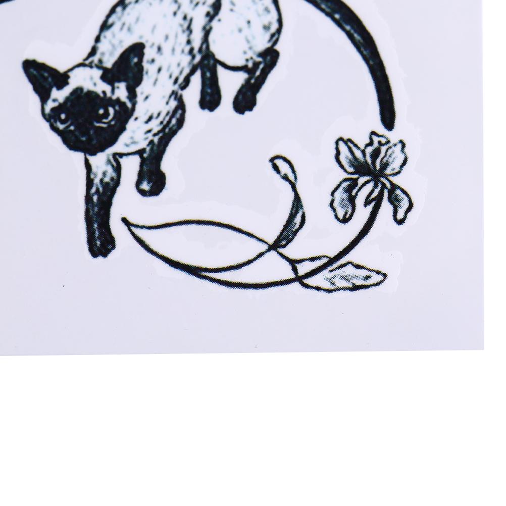 Sexy Preto Gatos Tatuagem Temporária Corpo Arte Braço Flash Do Tatuagem Adesivos 10.5 * 6 cm À Prova D 'Água Falso Henna Indolor Tatto Etiqueta SH190724