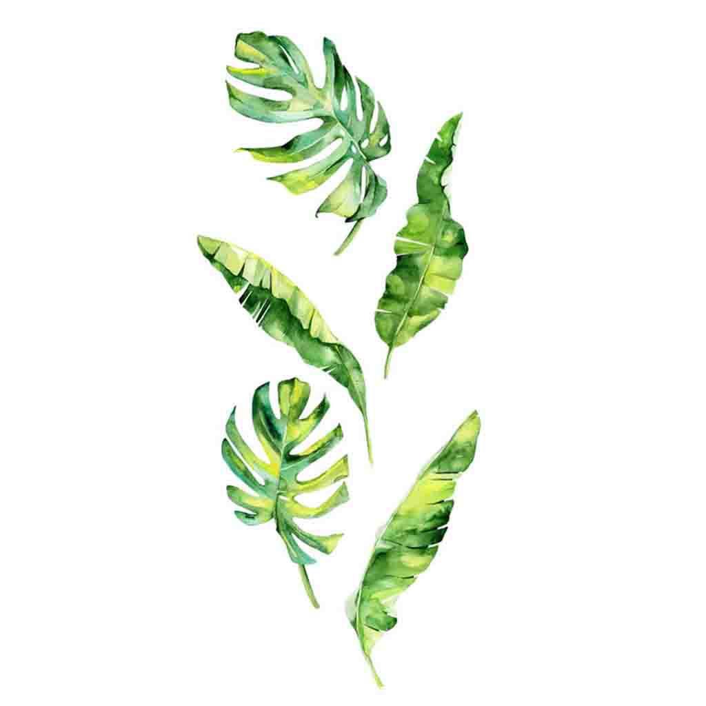 Summer Tropical Green Plants Leaves Wall Sticker Vinyl Decals Home Decorations muurstickers voor kinderen kamers decals