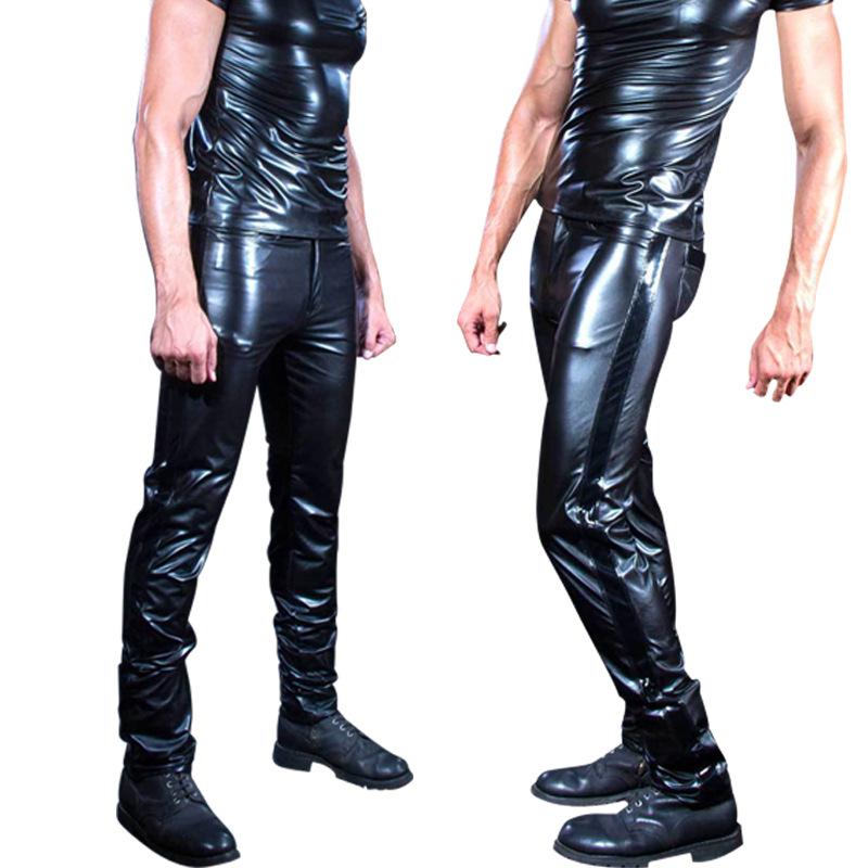 Gay Fetish Stripper Men/'s Leather Shorts W//Break Away Front Magic Mike Boxers