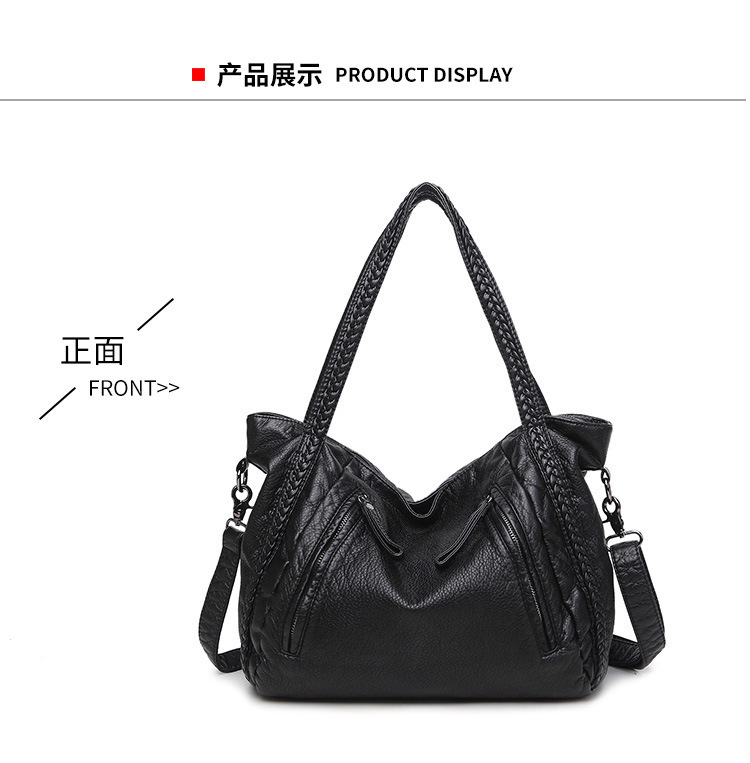 Dusa2019 Package Woman Bale Hand Bill Of Lading Shoulder Wash Water Sheepskin Weave Bag