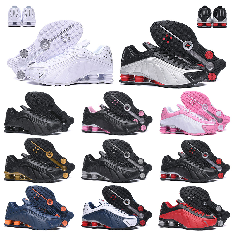 2019 Nike Air Shox OG R4 Designer Chaussures De Course Femme Homme OZ NZ 301 DELIVER Triple Noir Blanc Bleu Argent Rouge Or Baskets Baskets De Sport
