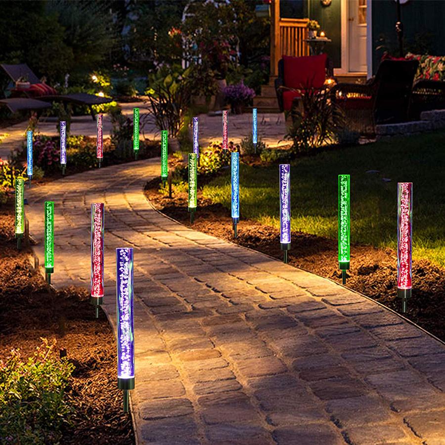 Set di 3 LED a energia solare a bolle bubble GIOCO LUCI DA GIARDINO BIANCHE walkway Patio
