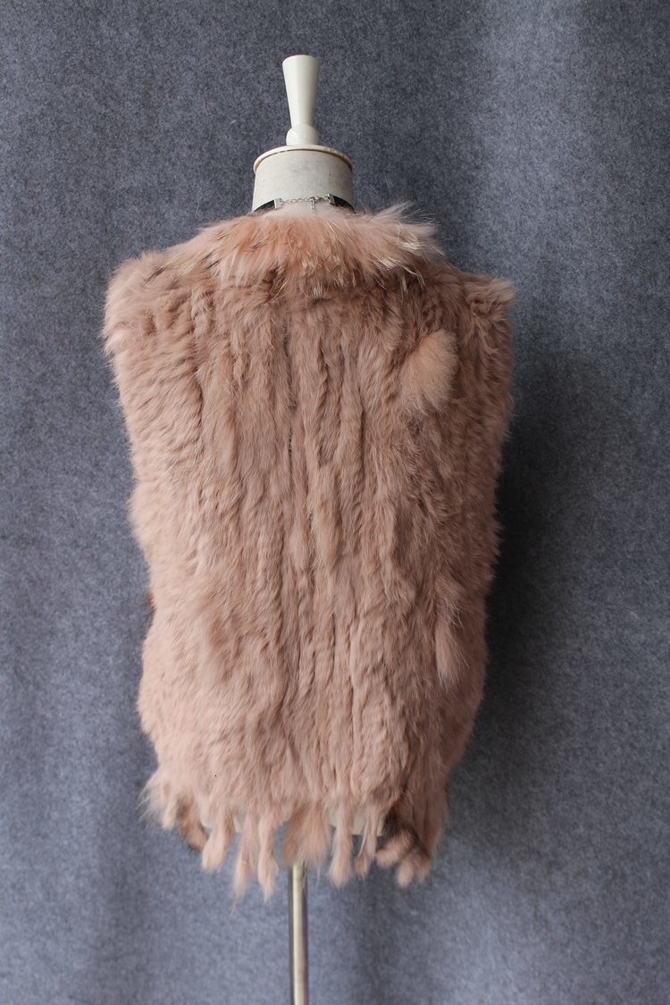 genuine real rabbit fur vest with raccoon fur collar (14)