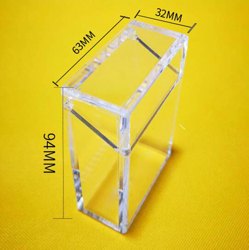 Latest Portable Acrylic Cigarette Smoking Holder Case Shell Transparent Visual Window Luxury Innovative Design Box Container High Quality