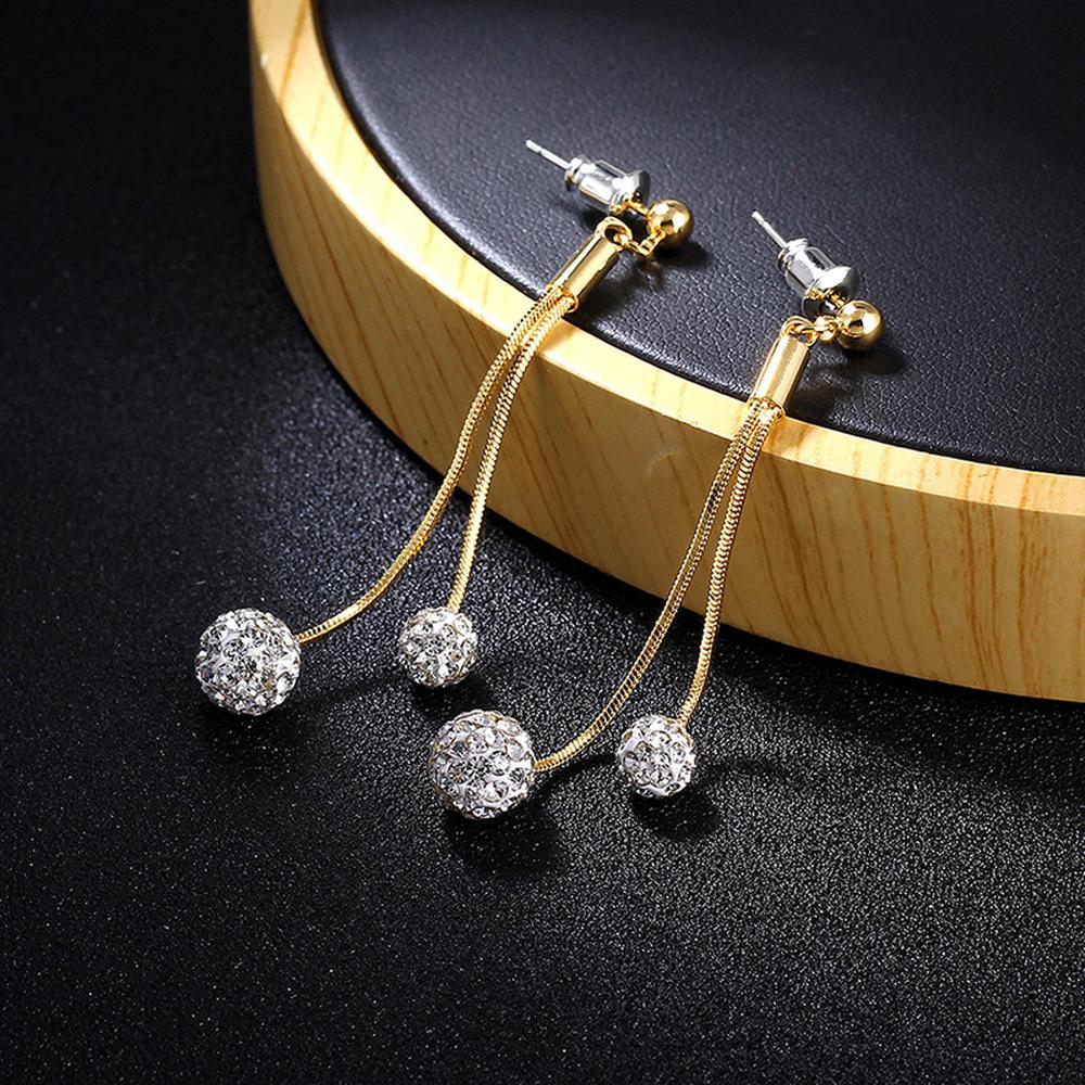 Clip On Earrings Tassel Black Hairball Exquisite Dangle Eardrop Holiday
