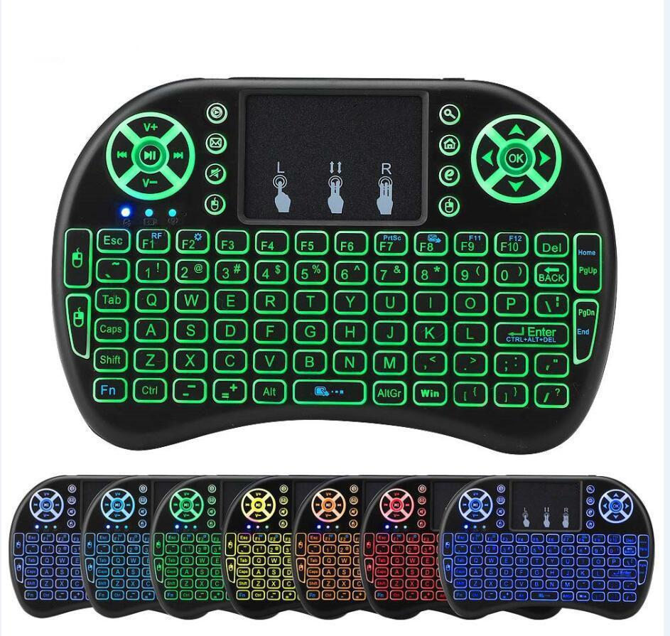 Color: 7 color backlit Calvas T3 6-Axis Gyro Air Mouse 2.4G Wireless 7 Color Backlit Smart Remote Control with QWERTY Keyboard for X96 H96 Pro Android TV Box