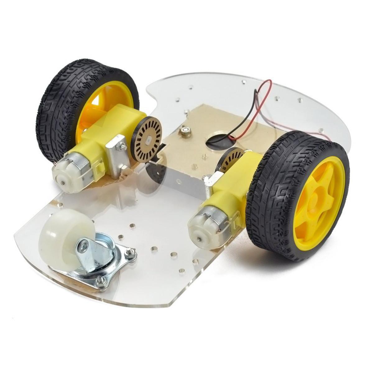 2WD Mini Rotonda Double-Deck Smart Robot Car Chassis Kit FAI DA TE Arduino 15x 14x 8 CM Robot Intelligente Kit FAI DA TE Car Chassis