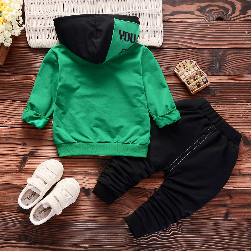Spring Autumn Children Boys Girls Cotton Clothing Sets Baby Patchwork Hoodies T-shirt Pants /sets Fashion Toddler Tracksuits Y190518
