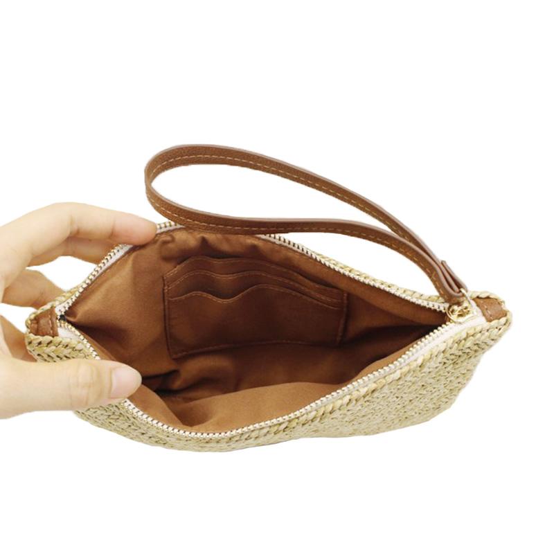Women Clutch Bags Female INS Popular Summer Beach Straw Bag Lady Travel Mini Messenger Bags Casual Knitted Bolsa Tote SS3133 (8)