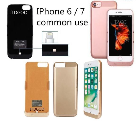 Pil Şarj Taşınabilir Güç Bankası Kılıfı iphone 7 6 6 s Artı Alüminyum sünger Şarj Yedekleme 10000 mAh coque
