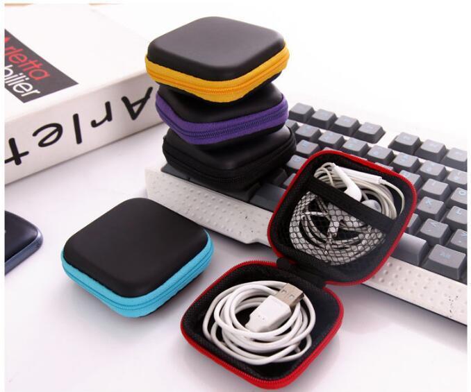 Mode Porte-monnaie Portable Mini Portefeuille Voyage Électronique SD Carte USB Câble Écouteur Téléphone Chargeur De Stockage Cas Pochette Cadeau