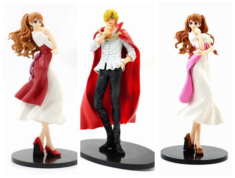 Venta al por mayor caliente 23 cm One Piece prometida Charlotte Pudding Vinsmoke Sanji figura de acción juguetes muñeca regalo de Navidad