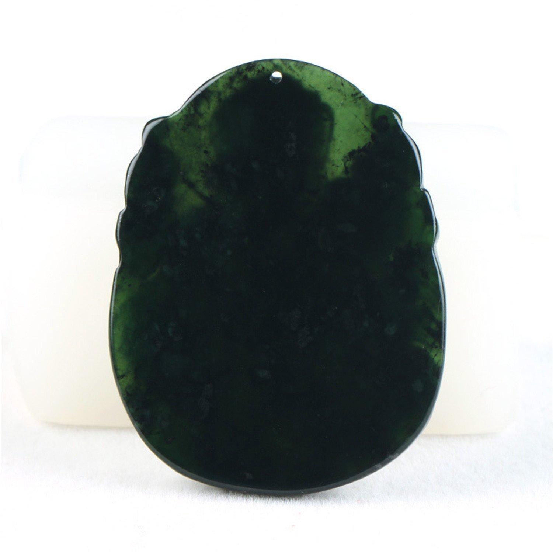 Chinese Natural Black Green Jadeite Jade Amulet Pendant Necklace Jewelry Gift Gemstone Wholesale