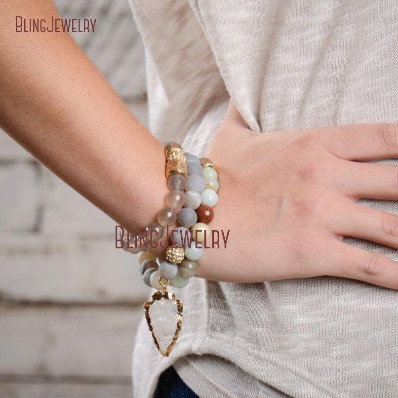 20181201-BM17426-Latest Arrowhead Clear Crystal Bracelet On Sale_20