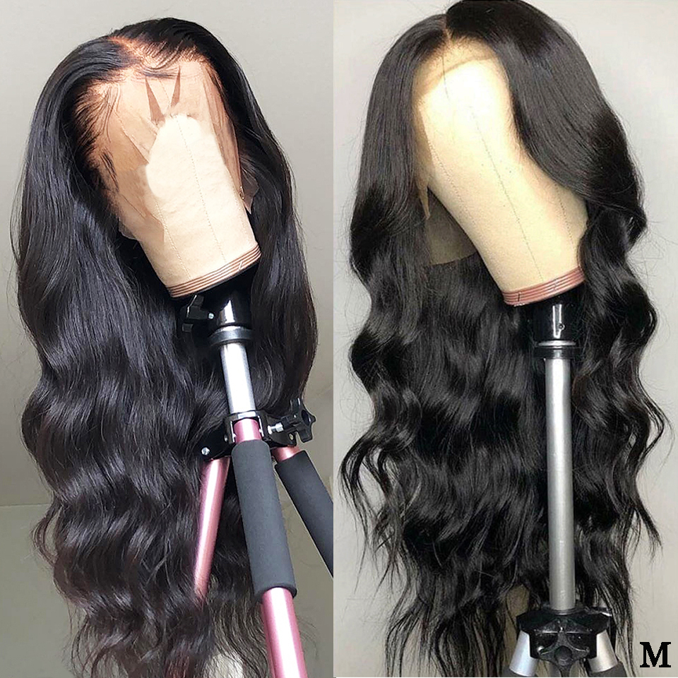 13x6 Lace Front Wig Pre Plucked Brazilian Body Wave Lace Front Human Hair Wigs 150% Density Middle Ratio Lace Front Wigs