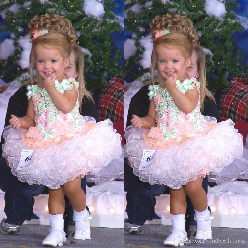 2020 baby-miss america mädchen festzug-kleider nach maß  organza-partei-kuchen-blumen-mädchen-hübsches kleid für kleine kinder