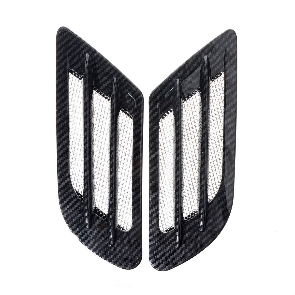 "Black 8.5/"" x 5/"" Fender Air Vent Intake Scoop Bonnet Grill Grille For Mercedes"