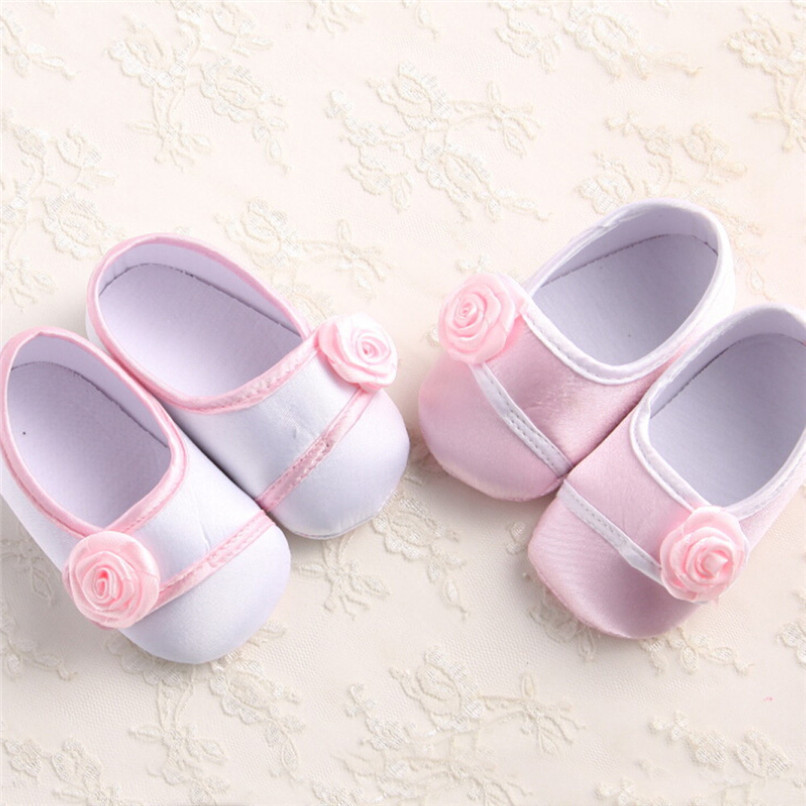 Baby Girls Shoes Fashion Newborn Infant Baby Girls Solid Flower Shoes Soft Sole Anti-slip Shoes Baby First Walker Shoes M8Y14 (4)