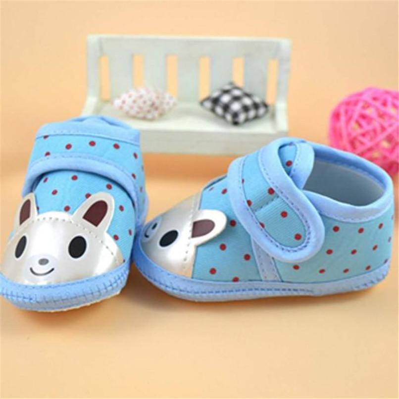 Newborn Girl Boy First Walker Soft Sole Crib Toddler Shoes Canvas Sneaker NDA84L16 (5)