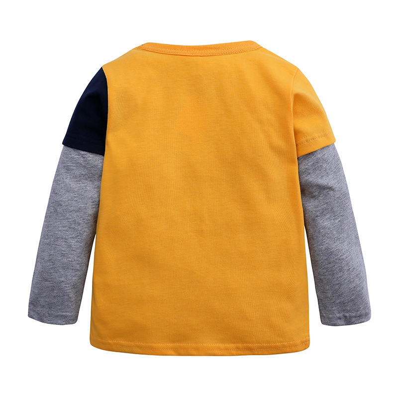 INS hot item Kids Boys T-shirt Cartoon Dinosaur Boys Spring Autumn Shirt Cotton Knitted Child Top Clothes