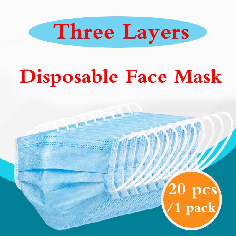 50 pcs maschera monouso antipolvere medica