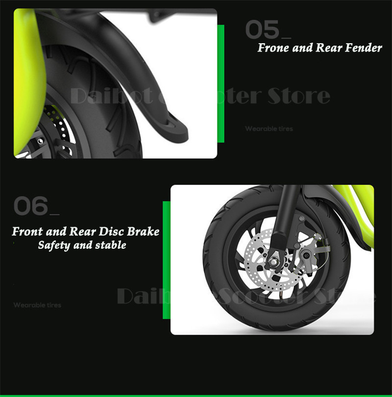 Daibot Electric Scooter For Kids Two Wheel Electric Scooters 12 inch Brushless Motor 350W 36V Portable Adult Electric Bike (39)