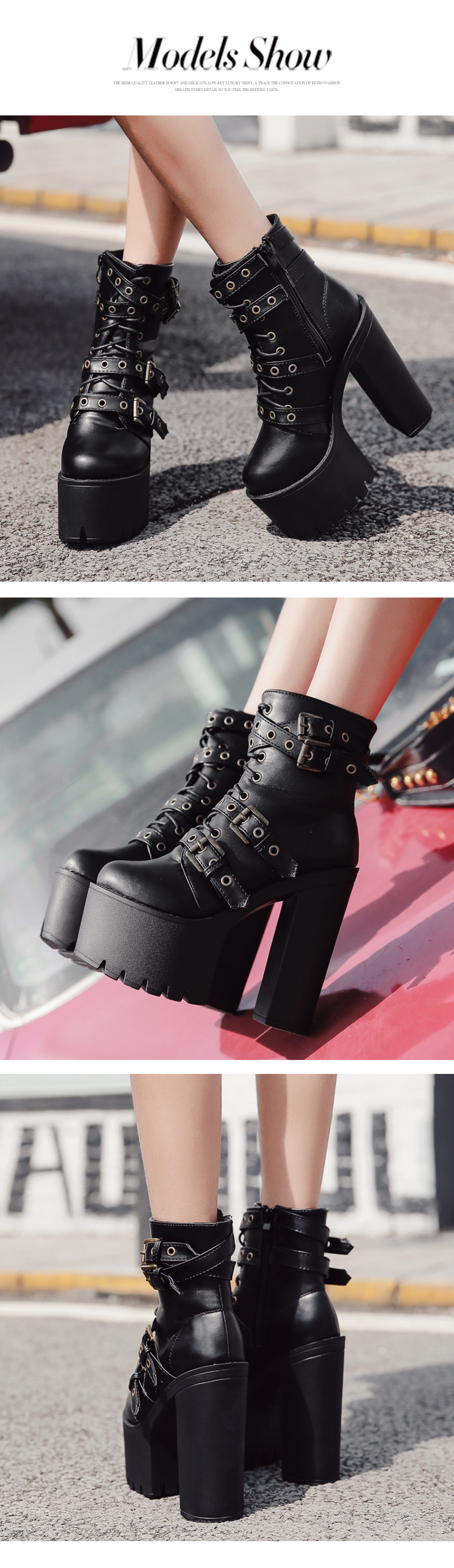 ladies metal boots