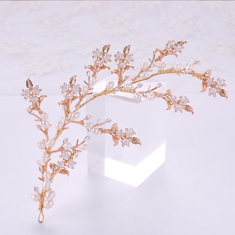 Gold Color Headbands (4)
