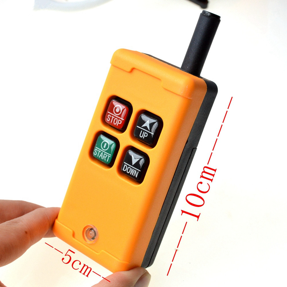 HS-4 Industrial Wireless Remote Controller 1Transmitter+1Receiver for Lift Hoist