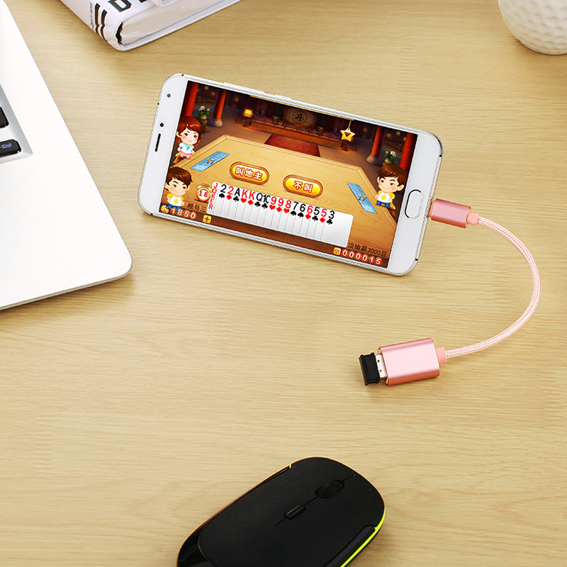 Type C USB 2.0 Male to OTG Type-A Female Adapter Cord for Android Huawei OPPO Tablet PC Samsung Note 8 Smart Phone