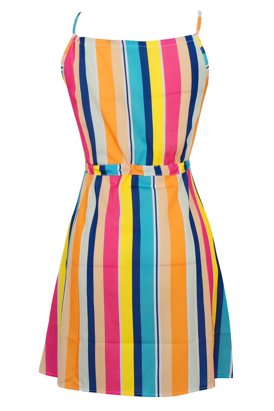 Gladiolus Chiffon Women Summer Dress Spaghetti Strap Floral Print Pocket Sexy Bohemian Beach Dress 2019 Short Ladies Dresses (28)