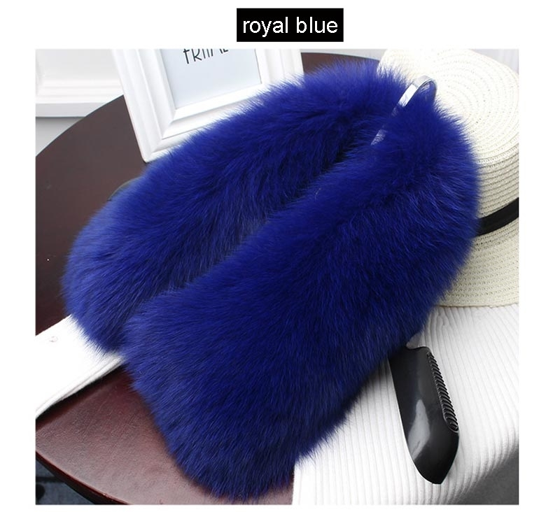 fox fur collar royal blue 1