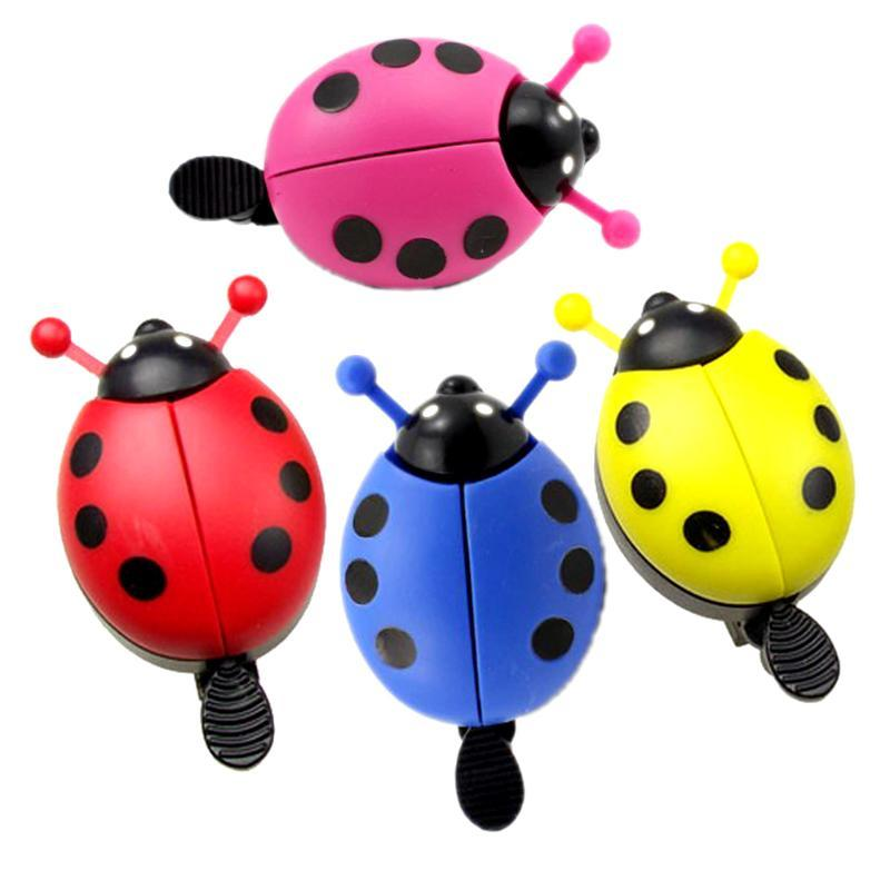 Bike Bells Alarm Horn Bicycle Ladybug Bell Ladybird Alarm Bike Handlebar Horn Cycling Safety Accessories Bell Ring Random Color