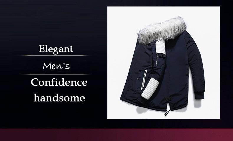 Winter Jacket Men 2019 Fur Collar Hooded Oversized Black Long Parka Coats Pu Thicken Windproof Warm Jackets Outerwear