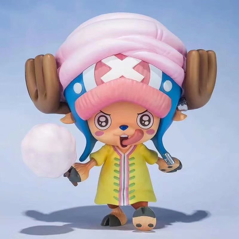 12cm Chopper Figure One Piece With Cotton Candy Variable Face PVC Collection Toy