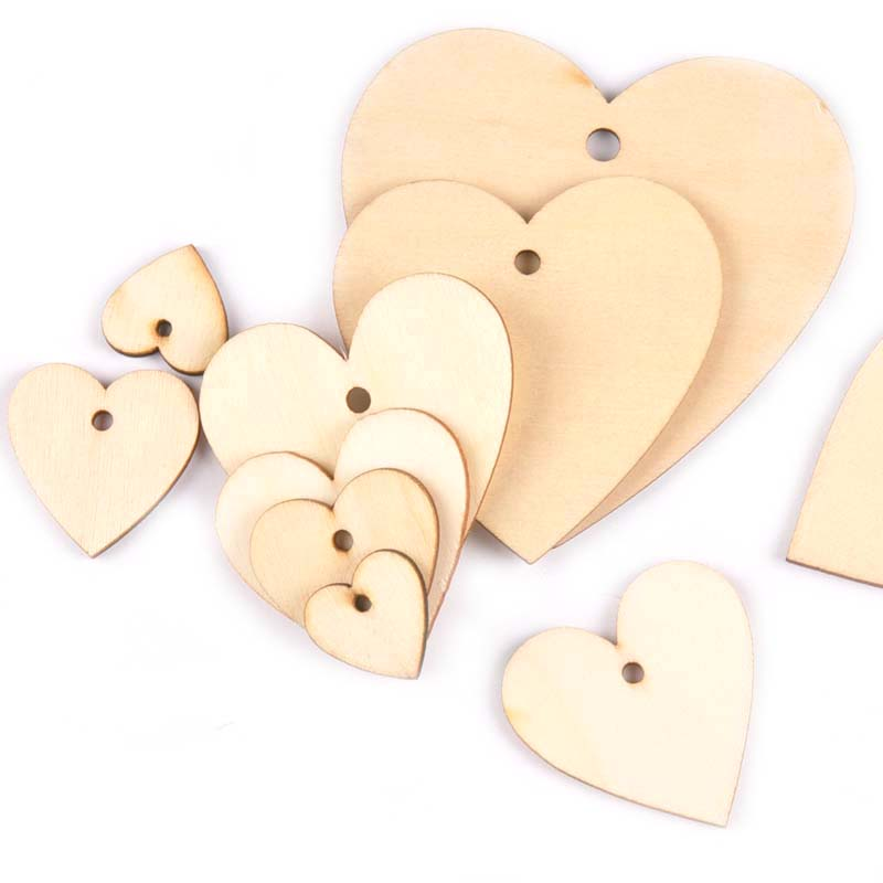 Clearance Sale! Wedding Card Embellishment 4 cm 15 x Wooden Hearts,Crafts