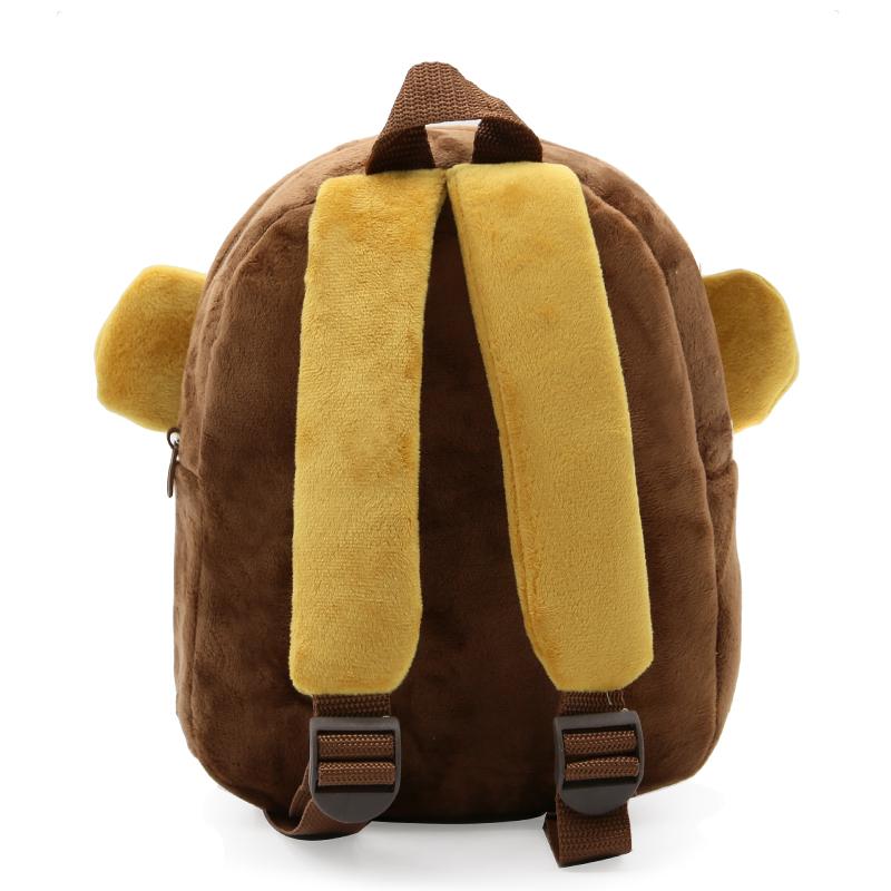 2017-Plush-Children-Backpacks-Kindergarten-Schoolbag-3D-Cartoon-Monkey-Animal-Kids-Backpack-Children-School-Bags-for