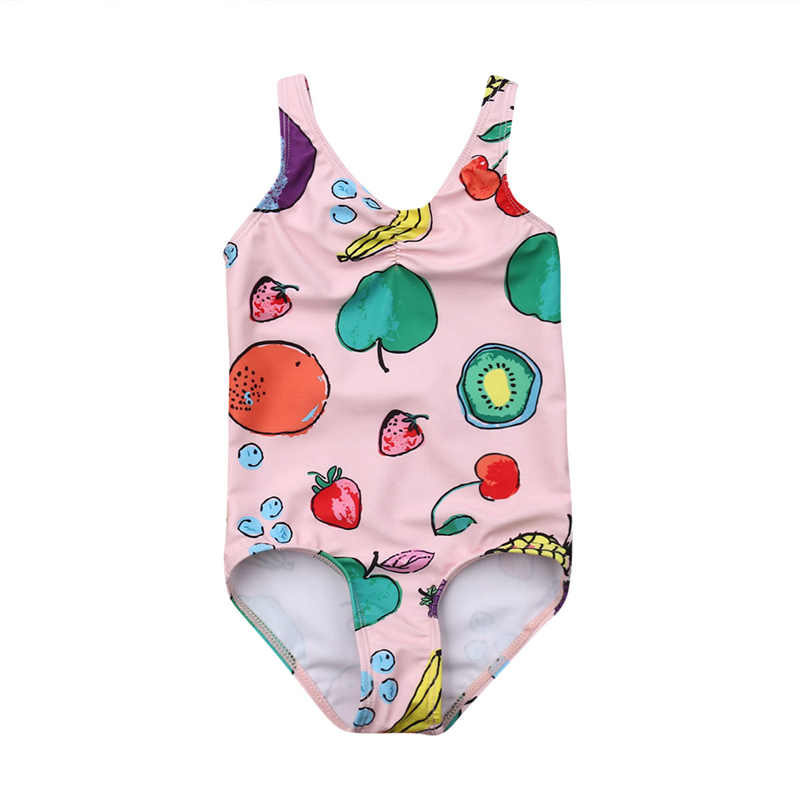 Newborn Girls Swimsuit Floral One Piece Swimwear Baby Bathing Suit Swimming Costume Kids Swimsuit Children Swimwear Bodysuit