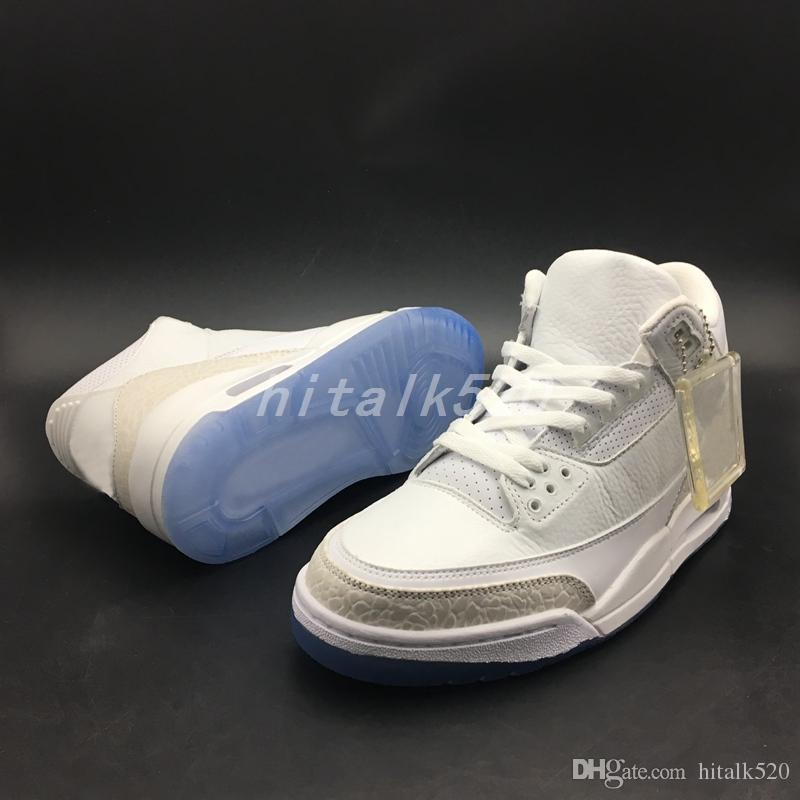 Top Qulity Pure White Cement Tinker Justin Fashion Basketball Shoes Men Sports All White Sneakers Size 40-47