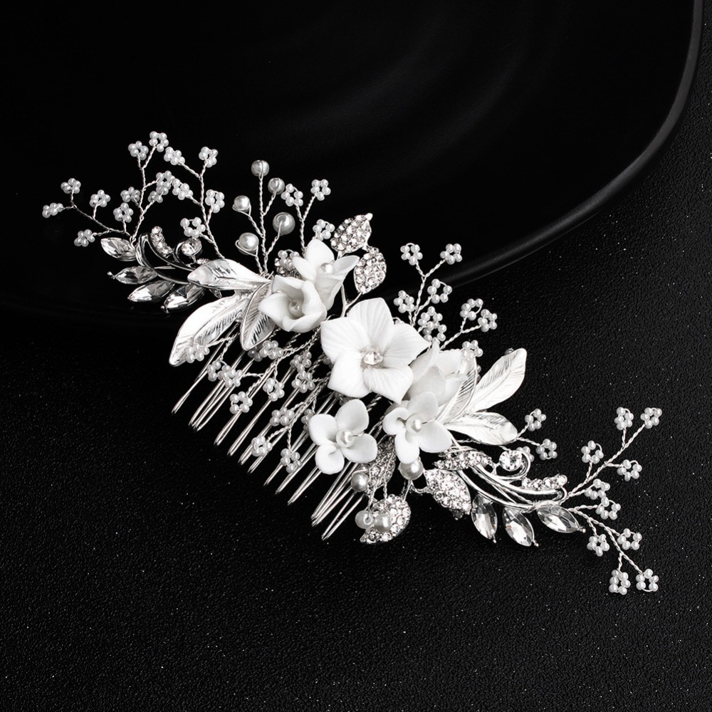 White-Flower-Silver-Leaf-Rhinestone-Hair-Combs-Wedding-Hair-Accessories-Bridal-Women-Pearl-Hair-Ornament-Head (1)