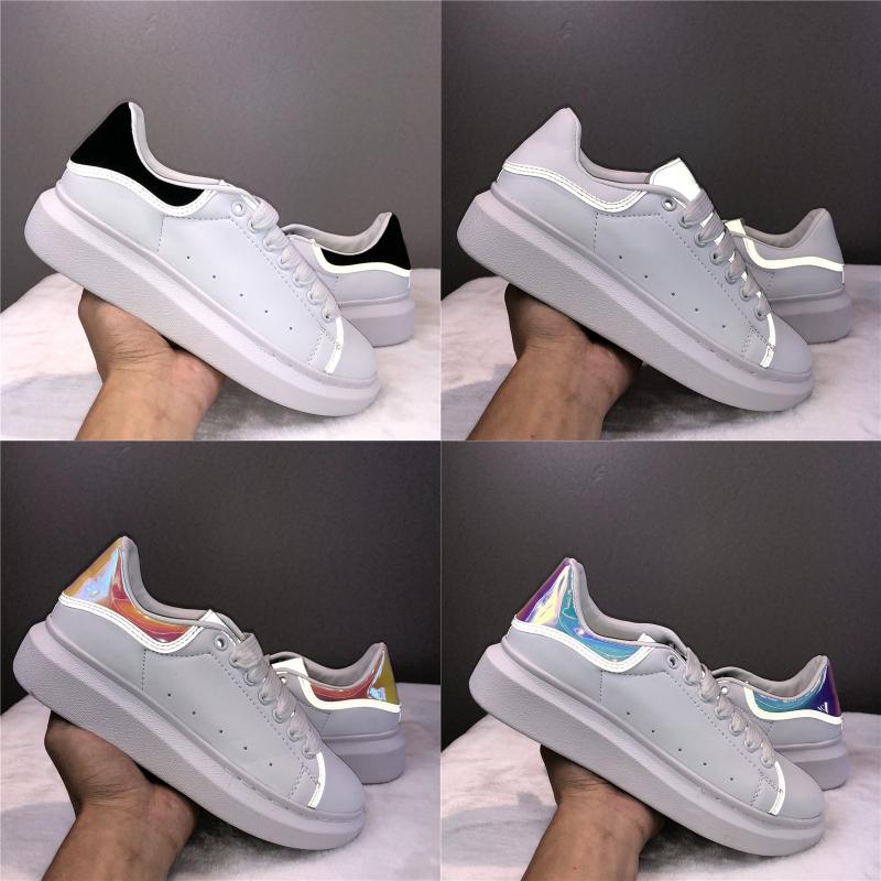 Ace Fashion casual shoes mens sneakers triple blanc noir rouge gris laser 3M réfléchissant femmes chaussures en cuir de luxe Designer Chaussures
