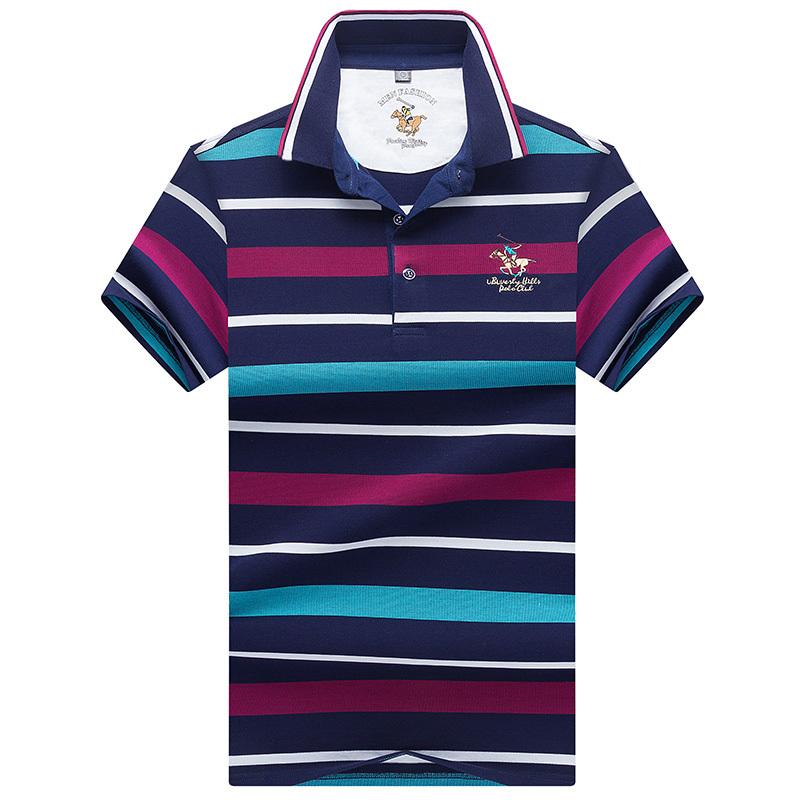 2019 Novos Topstees de Alta Qualidade Camisas Polo dos homens de Negócios Marcas de Camisas polo 3d Bordado Stripe Polos Mens Poloshirt 8080 MX190711