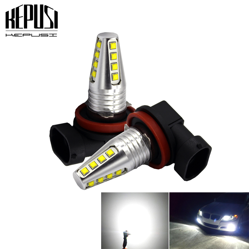 1 Pair H11//H8 42 SMD LED White 2835 Canbus Error Free Fog Light Bulb 6000K NEW
