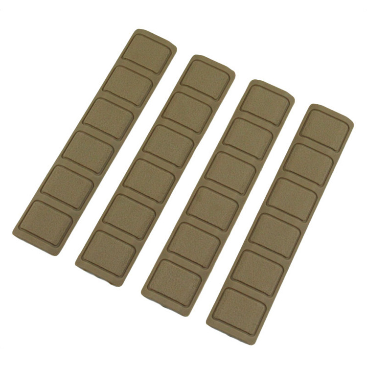 4pcs //pack Tactical Handguard Rail Cover for Picatinny Rail Black Tan Army Green