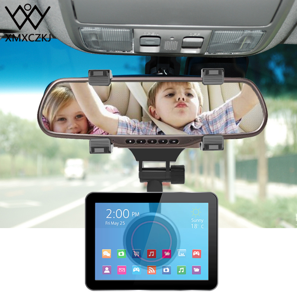 Xmxczkj Car Magnetic Mobile Rear View Mirror Mount Truck Auto Stand Support For Magnet Cell Phone Smartphone Holder J190507