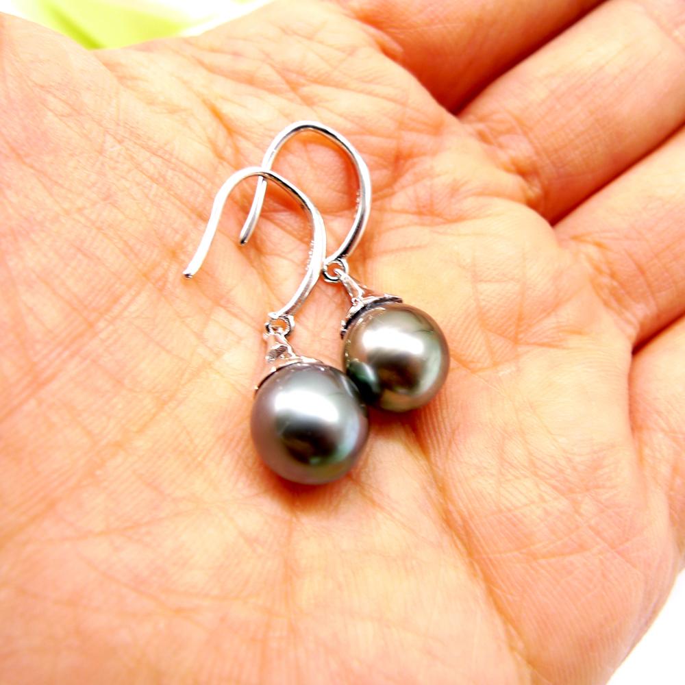 925sterling silver pearls black pearls