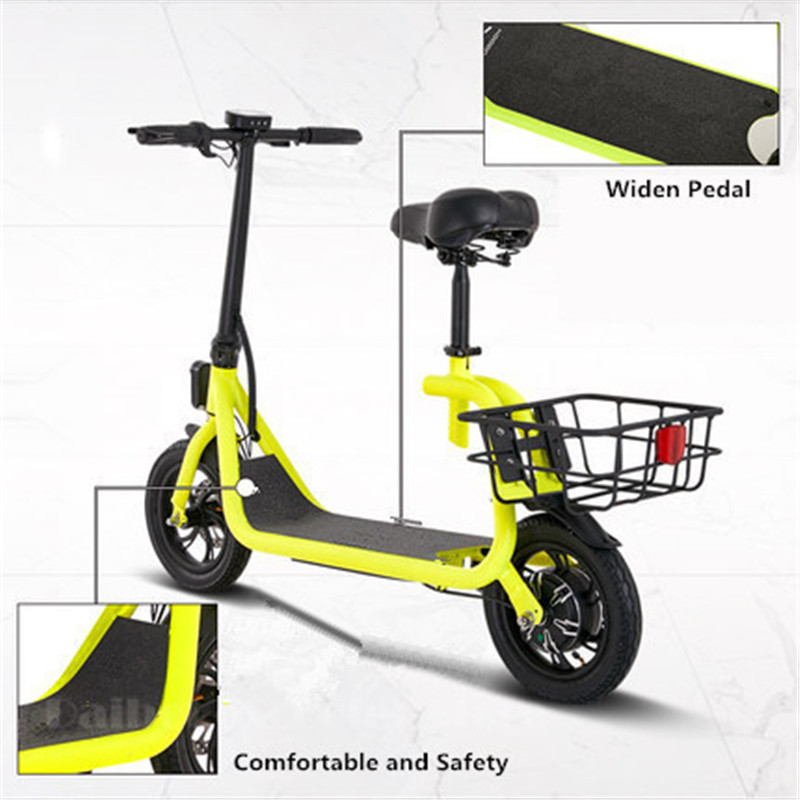Daibot Electric Scooter For Kids Two Wheel Electric Scooters 12 inch Brushless Motor 350W 36V Portable Adult Electric Bike (9)