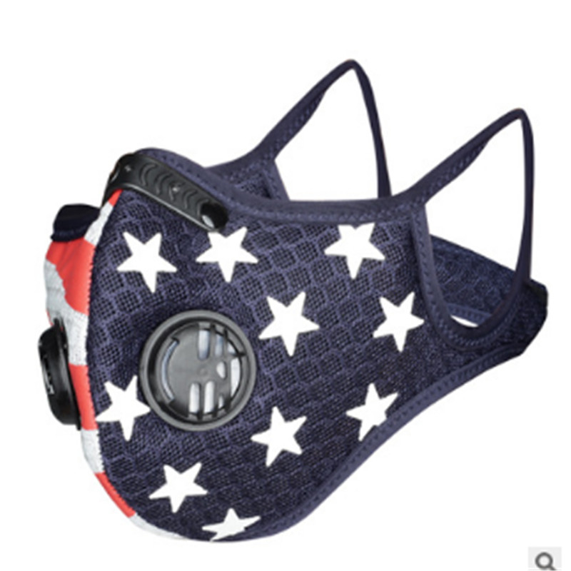 Cycling Face Mask Sport Outdoor Training Masks PM2.5 Anti-dust Pollution Defense Running Mask Activated Carbon Filter Washable Mask