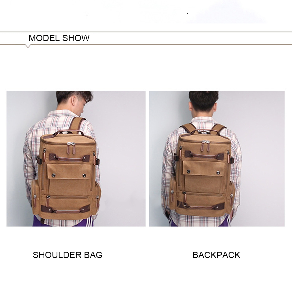 12 Canvas Backpack 15.6