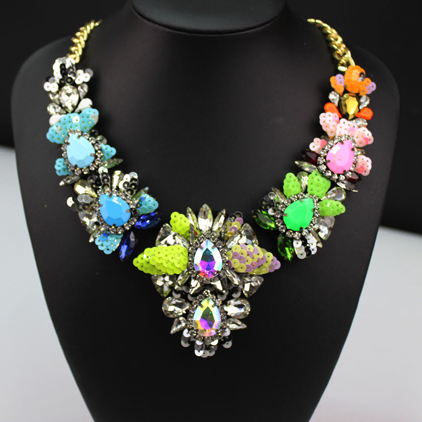Fashion Necklaces Wholesale Shourouk Choker Statement Necklace Pendant Fower Women Wild geometric necklace 649